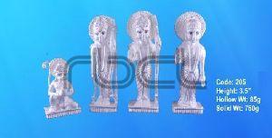 205 Sterling Silver Ram Darbar Statue