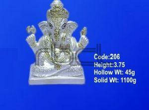 206 Sterling Silver Ganesh Statue