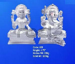 209 Sterling Silver Laxmi Ganesh Statue