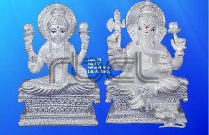 210 Sterling Silver Laxmi Ganesh Statue