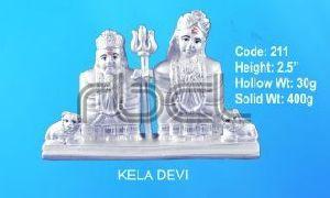 211 Sterling Silver Kela Devi Statue
