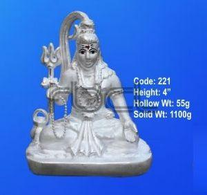 221 Sterling Silver Shivling Statue