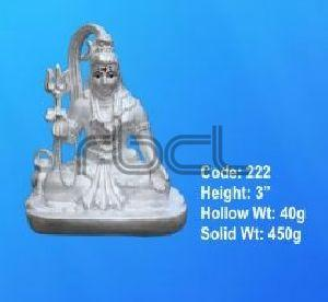222 Sterling Silver Shivling Statue