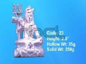 23 Sterling Silver Shivling Statue