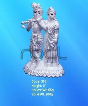 300 Sterling Silver Radha Krishna Statue