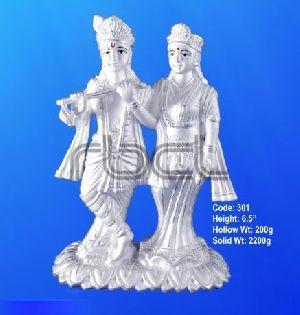 301 Sterling Silver Radha Krishna Statue