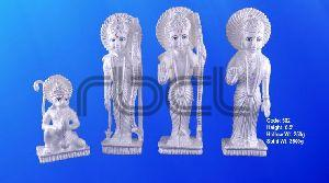 302 Sterling Silver Ram Darbar Statue