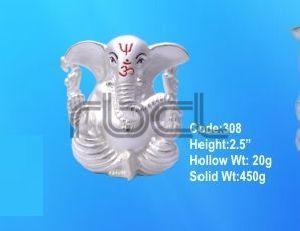 308 Sterling Silver Ganesh Statue