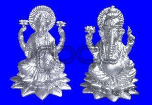 310 Silver Laxmi Ganesh Statue