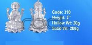 310 Sterling Silver Laxmi Ganesh Statue