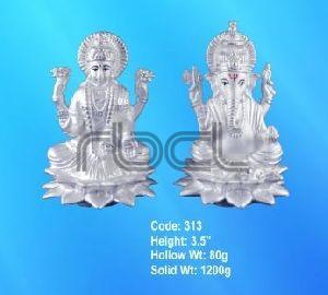 313 Sterling Silver Laxmi Ganesh Statue