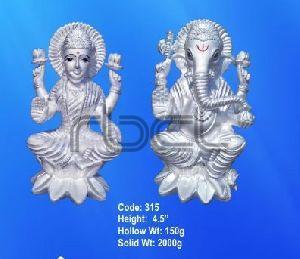 315 Sterling Silver Laxmi Ganesh Statue