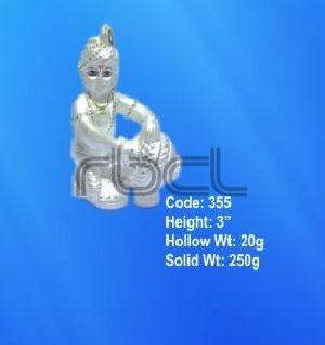 355 Sterling Silver Makhan Chor Statue