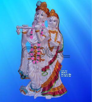 356 Sterling Silver Radha Krishna Statue