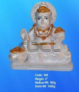368 Sterling Silver Kuber Statue