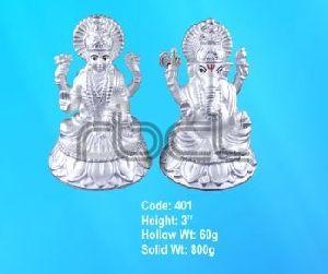401 Sterling Silver Laxmi Ganesh Statue