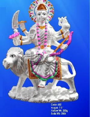 402 Sterling Silver Maa Durga Statue