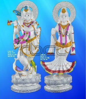 405/611 Sterling Silver Radha Krishna Statue