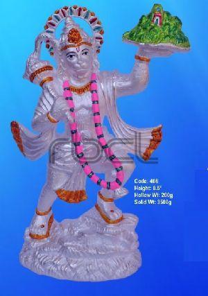 408 Sterling Silver Hanuman Statue