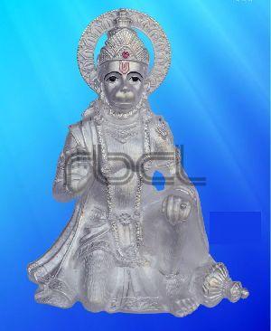 409 Sterling Silver Hanuman Statue
