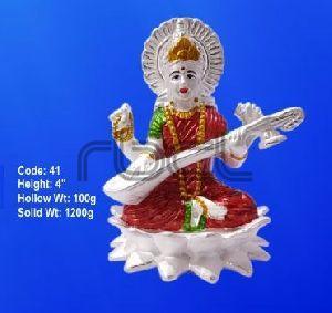 41 Sterling Silver Saraswati Statue