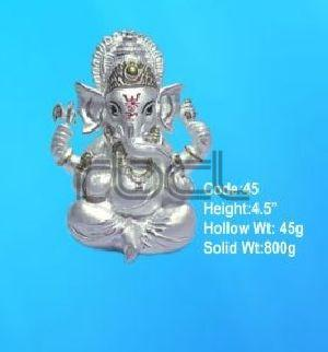 45 Sterling Silver Ganesh Statue