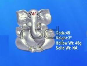 46 Sterling Silver Ganesh Statue