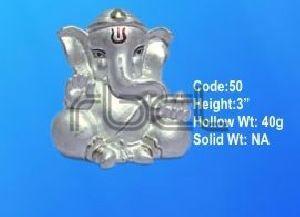50 Sterling Silver Ganesh Statue