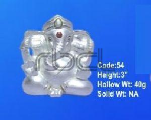 54 Sterling Silver Ganesh Statue