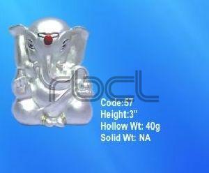 57 Sterling Silver Ganesh Statue