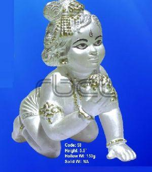 58 Sterling Silver Laddu Gopal Statue