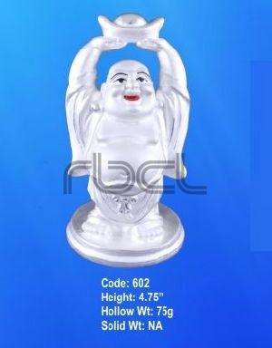 602 Sterling Silver Laughing Buddha Statue