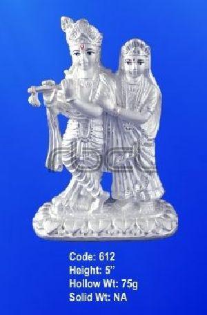 612 Sterling Silver Radha Krishna Statue