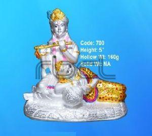 700 Sterling Silver Radha Krishna Statue