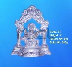 72 Sterling Silver Saraswati Statue