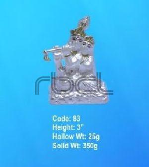 83 Sterling Silver Radha Krishna Statue