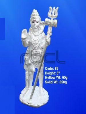 86 Sterling Silver Shivling Statue