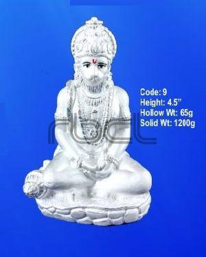 9 Sterling Silver Hanuman Statue