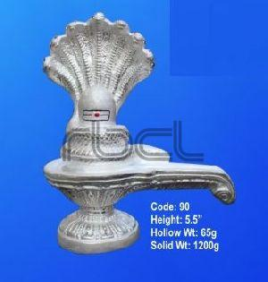 90 Sterling Silver Shivling Statue