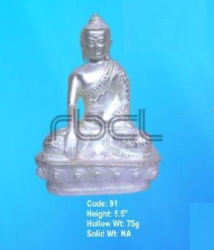 91  Sterling Silver Buddha Statue