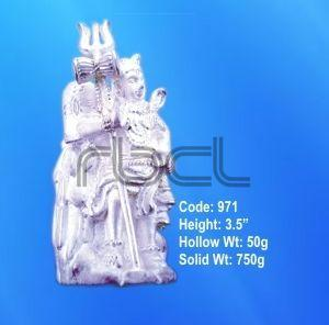 971 Sterling Silver Shivling Statue
