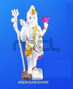 999 Silver Ardhanarishvara Statue