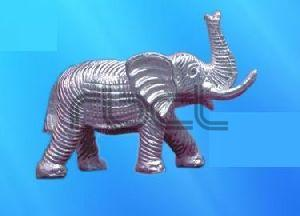 999 Silver Elephant Statue