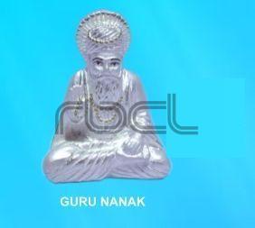 999 Silver Guru Nanak Statue