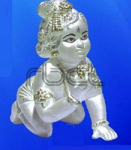 999 Silver Laddu Gopal Statue