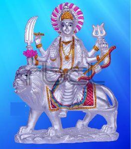999 Silver Maa Durga Statue