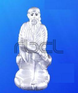 999 Silver Sai Baba Statue