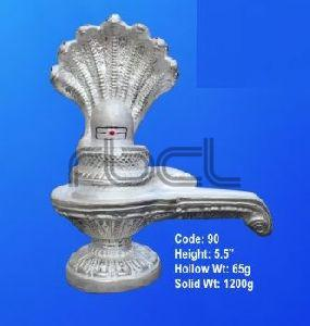 999  Silver Shivling Statue