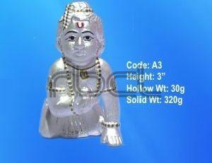 A3 Sterling Silver Laddu Gopal Statue