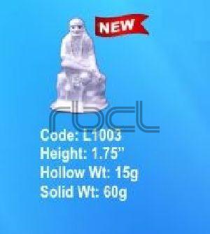 L1003 Sterling Silver Sai Baba Statue